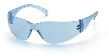 Pyramex S4160S Safety Glasses, Intruder Infinity Blue Lens with Infinity Blue Frame, Qty: Box/12 prs