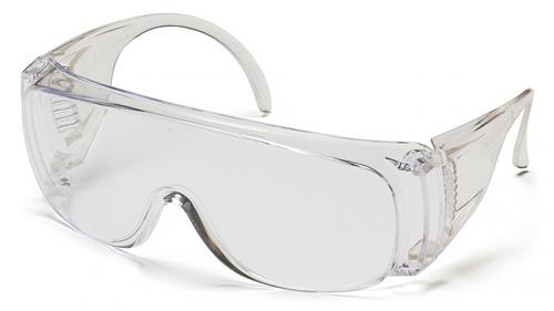 Pyramex S510SB Safety Glasses, Solo Eyewear Clear Lens/Frame Bulk 100 Wrapped Glasses, Qty: Box/100 prs