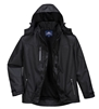 PortWest S555 Outcoach Jacket, Superior Waterproof, Abrasion Resistant, Breathable, Packaway Hood, Black