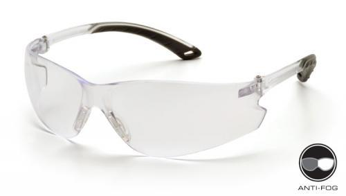 Pyramex S5810ST Safety Glasses, Itek Eyewear Clear Anti-Fog Lens with Clear Temples, Qty: Box/12 prs