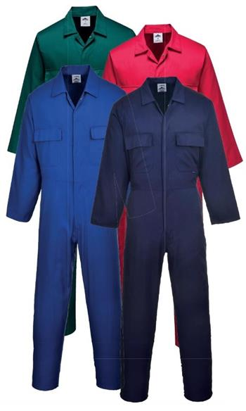 Portwest S999 Euro Work Polycotton Coverall, 6 oz. Fortis, 4 Color Options