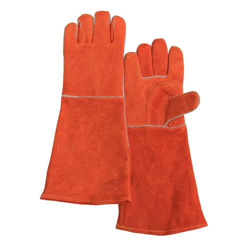 "Chicago Protective Apparel SA2-18 Welding Glove, 18"" Rust Split Cowhide, Fully sock lined, Pair"