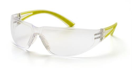 Pyramex SA3610S Safety Glasses, Cortez Eyewear Clear Lens with Apple Temples, Qty: Box/12 prs