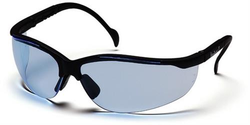Pyramex SB1860S Safety Glasses, Venture II Eyewear Infinity Blue Lens with Black Frame, Qty: Box/12 prs