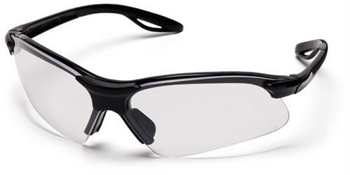 Pyramex SB2210S  Safety Glasses, Presidente Eyewear Clear Lens with Black Frame, Qty: Box/12 prs