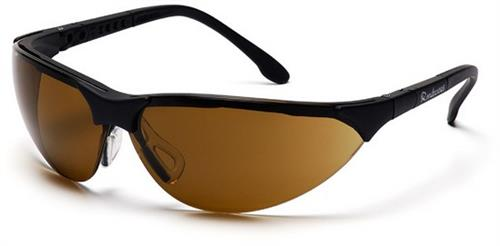 Pyramex SB2815S Safety Glasses, Rendezvous Eyewear Coffee Lens with Black Frame, Qty: Box/12 prs
