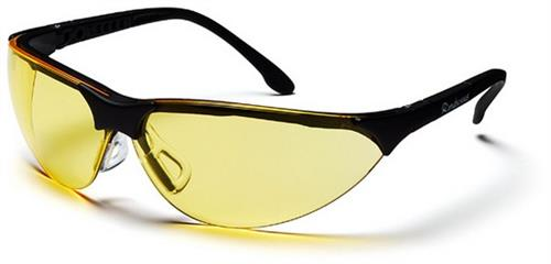 Pyramex SB2830S Safety Glasses, Rendezvous Eyewear Amber Lens with Black Frame, Qty: Box/12 prs