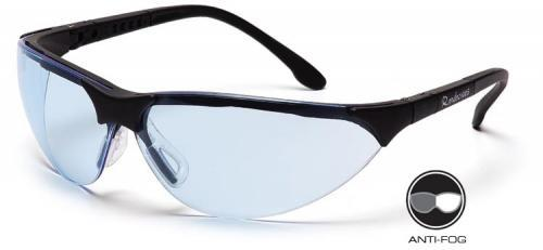 Pyramex SB2860ST Safety Glasses, Rendezvous Eyewear Infinity Blue Anti-Fog Lens with Black Frame, Qty: Box/12 prs
