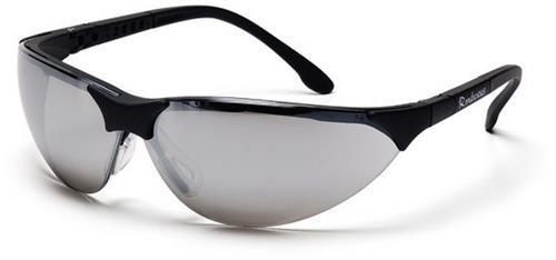 Pyramex SB2870S Safety Glasses, Rendezvous Eyewear Silver Mirror Lens with Black Frame, Qty: Box/12 prs