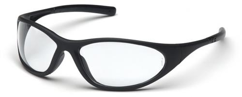 Pyramex SB3310E Safety Glasses, Zone II Eyewear Clear Lens with Matte Black Frame, Qty: Box/12 prs