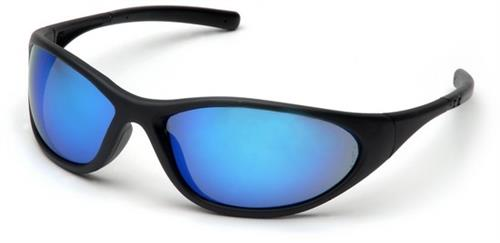 Pyramex SB3365E Safety Glasses, Zone II Eyewear Ice Blue Mirror Lens with Matte Black Frame, Qty: Box/12 prs