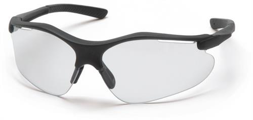 Pyramex SB3710D Safety Glasses, Fortress Eyewear Clear Lens with Black Frame, Qty: Box/12 prs