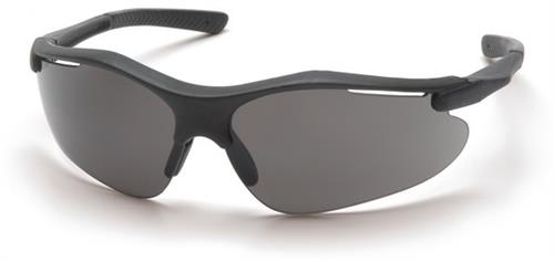 Pyramex SB3720D Safety Glasses, Fortress Eyewear Gray Lens with Black Frame, Qty: Box/12 prs