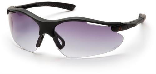 Pyramex SB3721D Safety Glasses, Fortress Eyewear Gradient Gray Lens with Black Frame, Qty: Box/12 prs