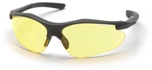 Pyramex SB3730D Safety Glasses, Fortress Eyewear Amber Lens with Black Frame, Qty: Box/12 prs