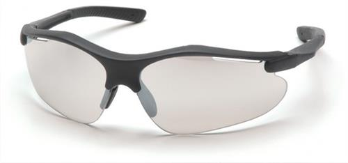 Pyramex SB3780D Safety Glasses, Fortress Eyewear IO Mirror Lens with Black Frame, Qty: Box/12 prs