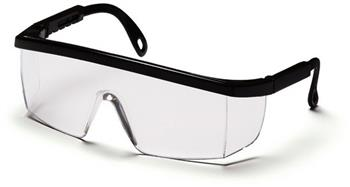 Pyramex SB410S Safety Glasses, Integra Eyewear Clear Lens with Black Frame, Qty: Box/12 prs