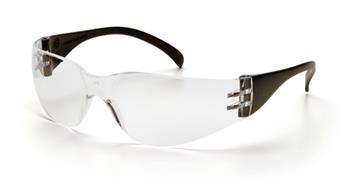 Pyramex SB4110S Safety Glasses, Intruder Eyewear Clear Lens with Black Temples, Qty: Box/12 prs