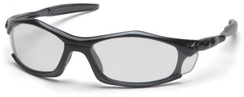 Pyramex SB4310D Safety Glasses, Solara Eyewear Clear Lens with Black Frame, Qty: Box/12 prs