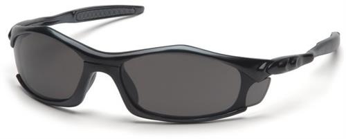 Pyramex SB4320D Safety Glasses, Solara Eyewear Gray Lens with Black Frame, Qty: Box/12 prs