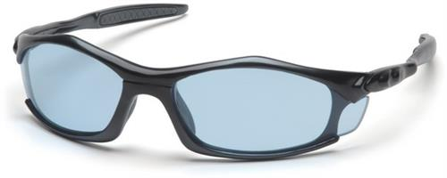 Pyramex SB4360D Safety Glasses, Solara Eyewear Infinity Blue Lens with Black Frame, Qty: Box/12 prs