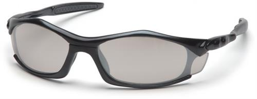 Pyramex SB4380D Safety Glasses, Solara Eyewear IO Mirror Lens with Black Frame, Qty: Box/12 prs
