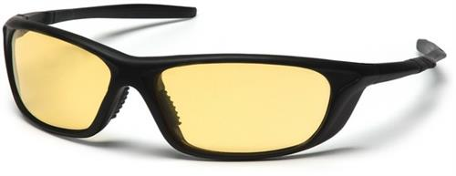 Pyramex SB4430D Safety Glasses, Azera Eyewear Amber Lens with Black Frame, Qty: Box/12 prs