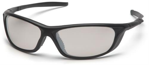 Pyramex SB4480D Safety Glasses, Azera Eyewear IO Mirror Lens with Black Frame, Qty: Box/12 prs