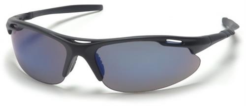 Pyramex SB4575D Safety Glasses, Avante Eyewear Blue Mirror Lens with Black Frame , Qty: Box/12 prs