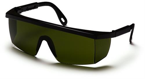 Pyramex SB460SF Safety Glasses, Integra Eyewear 3.0 IR Filter Lens with Black Frame, Qty: Box/12 prs