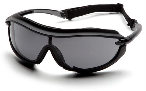 Pyramex SB4620STP Safety Glasses, XS3 Plus Gray Anti-Fog Lens with Black Frame and Cord, Qty: Box/12 prs