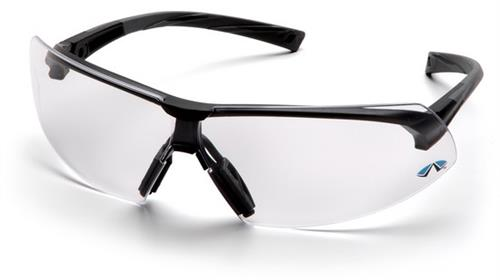 Pyramex SB4910S Safety Glasses, Onix Eyewear Clear Lens with Black Frame, Qty: Box/12 prs