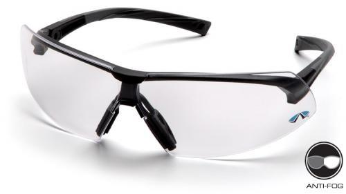 Pyramex SB4910ST Safety Glasses, Onix Eyewear Clear Anti-Fog Lens with Black Frame, Qty: Box/12 prs