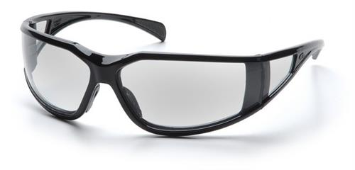 Pyramex SB5110DT Safety Glasses, Exeter Eyewear Clear Anti-Fog Lens with Black Frame, Qty: Box/12 prs