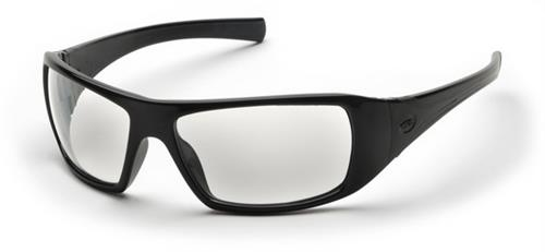 Pyramex SB5610D Safety Glasses, Goliath Eyewear Clear Lens with Black Frame, Qty: Box/12 prs