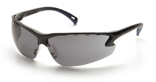Pyramex SB5720D Safety Glasses, Venture 3 Eyewear Gray Lens with Black Frame, Qty: Box/12 prs