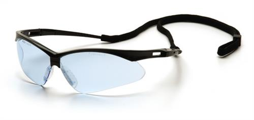 Pyramex SB6360SP Safety Glasses, PMXtreme Eyewear Infinity Blue Lens with Black Frame & Cord, Qty: Box/12 prs