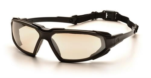 Pyramex SBB5080DT Safety Glasses, Highlander Eyewear IO Mirror Anti-Fog Lens with Black Frame, Qty: Box/12 prs