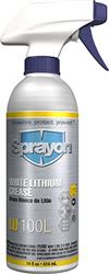 Sprayon S000100LQ White Lithium Grease LU100L Non-Aerosol Liqui-Sol, 14 oz. Case/12
