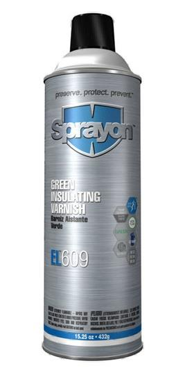 Sprayon S00609000 Green Insulating Varnish EL609 Aerosol, 15.25 Oz. Cans, Case/12