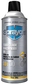 Sprayon S00700000 Food Grade Machinery Oil LU700 Aerosol