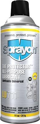 Sprayon S00711000 The Protector All Purpose Lubricant LU711, Aerosol 11 Oz. Cans, Case/1
