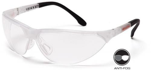 Pyramex SCC2810ST Safety Glasses, Rendezvous Eyewear Clear Anti-Fog Lens with Crystal Clear Frame, Qty: Box/12 prs