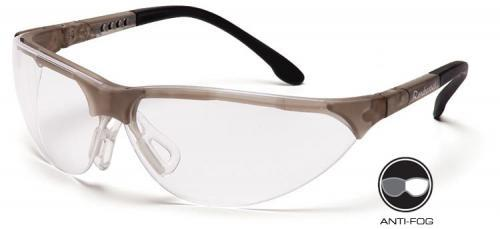 Pyramex SCG2810ST Safety Glasses, Rendezvous Eyewear Clear Anti-Fog Lens with Crystal Gray Frame, Qty: Box/12 prs