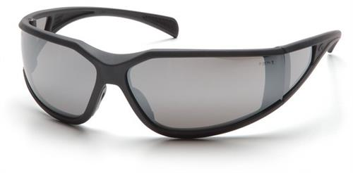 Pyramex SCG5170DT Safety Glasses, Exeter Eyewear Silver Mirror Anti-Fog Lens with Charcoal Gray Frame, Qty: Box/12 prs
