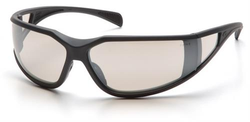 Pyramex SCG5180DT Safety Glasses, Exeter Eyewear IO Mirror Anti-Fog Lens with Charcoal Gray Frame, Qty: Box/12 prs