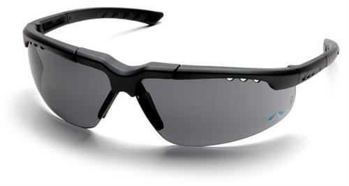 Pyramex SCH4820D Safety Glasses, Reatta Eyewear Gray Lens with Charcoal Frame, Qty: Box/12 prs