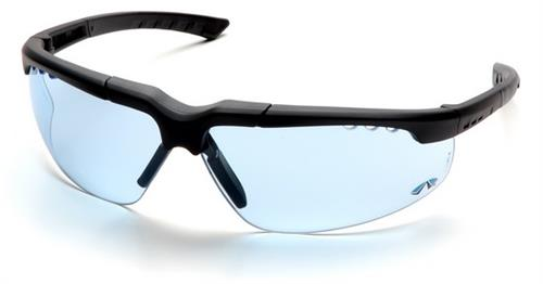 Pyramex SCH4860D Safety Glasses, Reatta Eyewear Infinity Blue Lens with Charcoal Frame, Qty: Box/12 prs