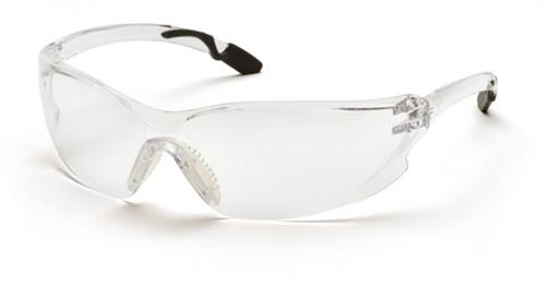 Pyramex SG6510S Safety Glasses, Achieva Eyewear Clear Lens with Gray Temples, Qty: Box/12 prs