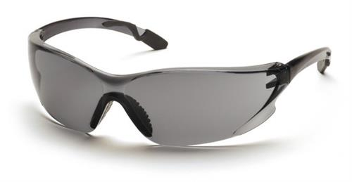 Pyramex SG6520S Safety Glasses, Achieva Eyewear Gray Lens with Gray Temples, Qty: Box/12 prs